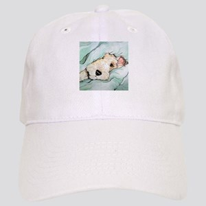 Napping Wire Fox Terrier Cap