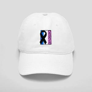Blue White Pink (Believe) Ribbon Cap