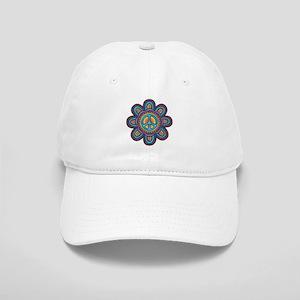 Hippie Peace Flower Cap