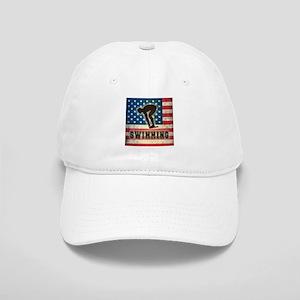 Grunge USA Swimming Cap