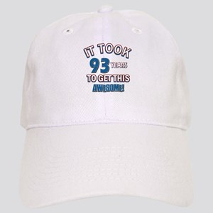 Awesome 93 year old birthday design Cap