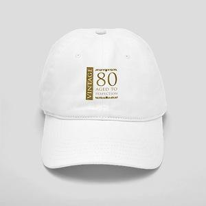 Fancy Vintage 80th Birthday Cap