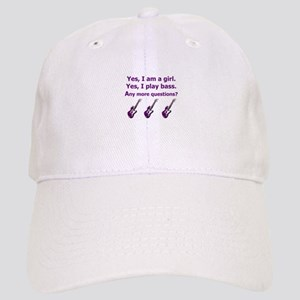 Yes I am a girl Play Bass Purple with bass Basebal