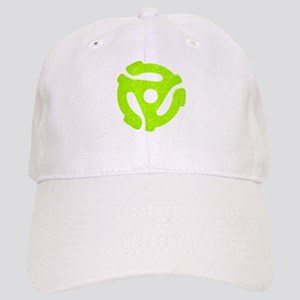 Lime Green Distressed 45 RPM Adapter Cap