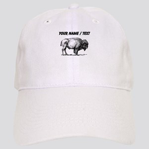 Custom Bison Sketch Baseball Cap