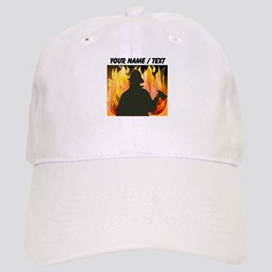 Custom Silhouetted Firefighter Cap