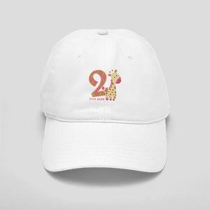 2nd Birthday Giraffe Personalized Cap