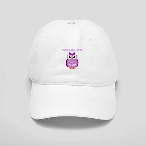 Custom Purple Owl Baseball Cap