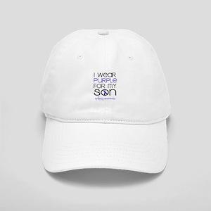 I Wear Purple for My Son Baseball Cap