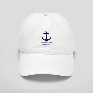 Nautical Sailing Boat Anchor Baseball Cap