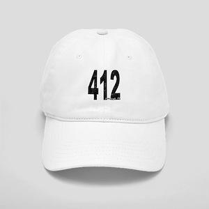 Distressed Pittsburgh 412 Baseball Cap