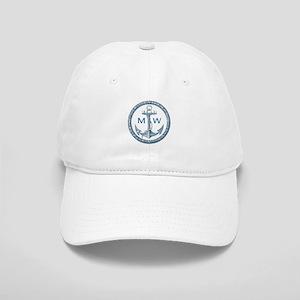 Anchor, Nautical Monogram Baseball Cap