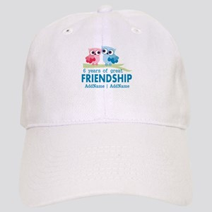 6th Anniversary Couple Gift Personalized Cap