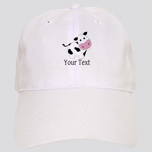 Personalizable Black and White Cow Baseball Cap