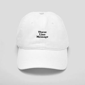 Big Three Line Message Baseball Cap