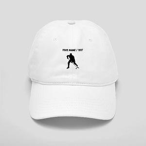 Custom Hockey Player Silhouette Baseball Cap