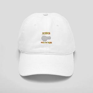 Hippos Make Me Happy Cap