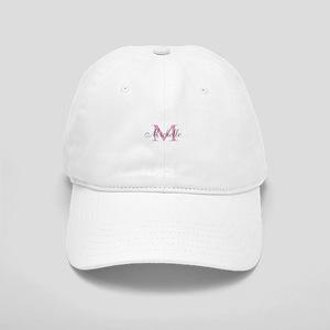 Personalized pink monogram Baseball Cap