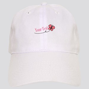 Personalizable Pink Butterfly Baseball Cap