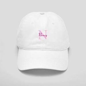 CUSTOM Initial and Name Pink Cap