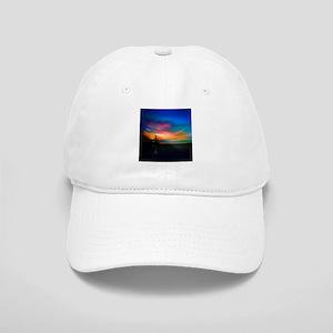 Sunrise Over The Sea And Lighthouse Baseball Cap