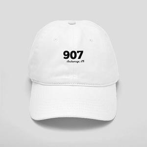 Area Code 907 Anchorage AK Baseball Cap