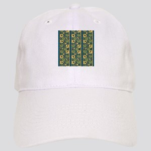 Blue and Yellow Floral Nouveau Cap