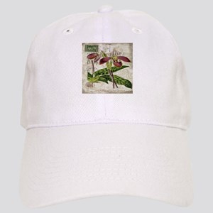 vintage orchid french botanical Cap