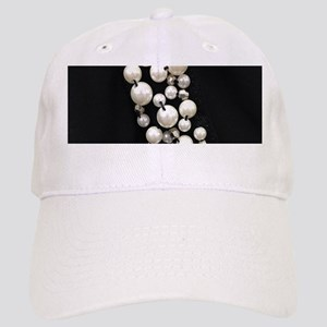 black and white pearl Cap