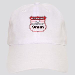 protected by 9mm shield Baseball Cap