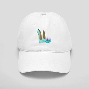 Turquoise Lace Stilettos and Rose Art Baseball Cap