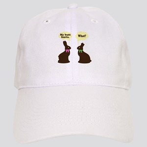 My butt hurts Chocolate bunnies Cap