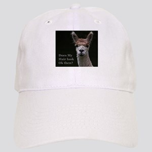 Alpaca with funny hairstyle Cap
