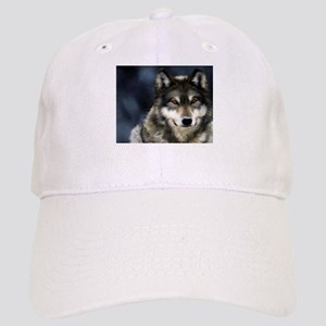 Wolf with Red Eyes Baseball Cap