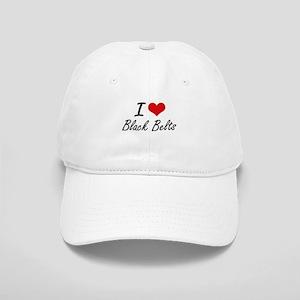 I Love Black Belts Artistic Design Cap