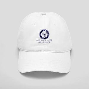 PERSONALIZED US Navy Blue White Baseball Cap