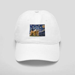 Starry Night & 2 Wheatens Cap