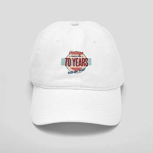 Funny 70th Birthday Old Fashioned Cap