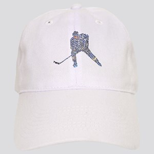 Hockey Player Typography Cap