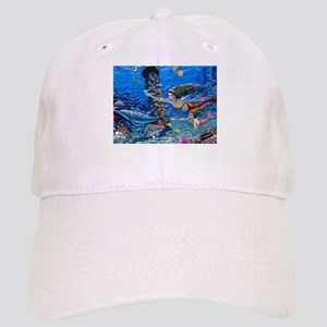 Mermaid And Her Daughter Swimming Baseball Cap