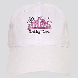 Tiara 50th Birthday Queen Cap