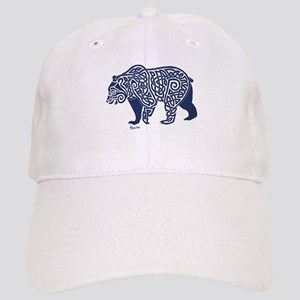 Bear Knotwork Blue Cap