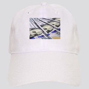 US Currency One Hundred Dollar Bill Cap