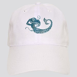 Worn Mermaid Graphic Cap