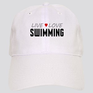 Live Love Swimming Cap