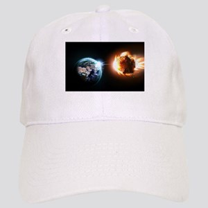 Earth And Asteroid Baseball Cap