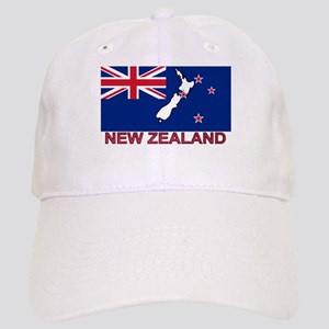 New Zealand Flag (labeled) Cap