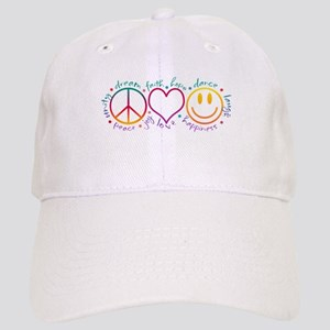 Peace Love Laugh Cap