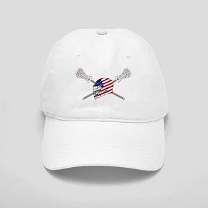 American Flag Lacrosse Helmet Cap