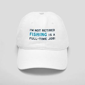 Retired Fishing Gag Gift Cap